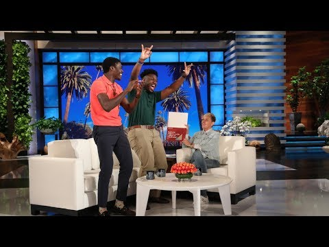 Val Santos - VAL: Ellen Degeneres Surprises Two VERY Deserving Teens