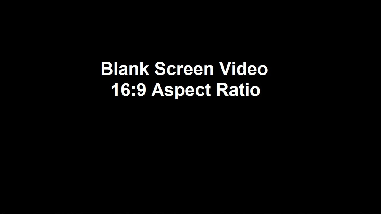 Blank 16x9 Video For Editing 30 Secs