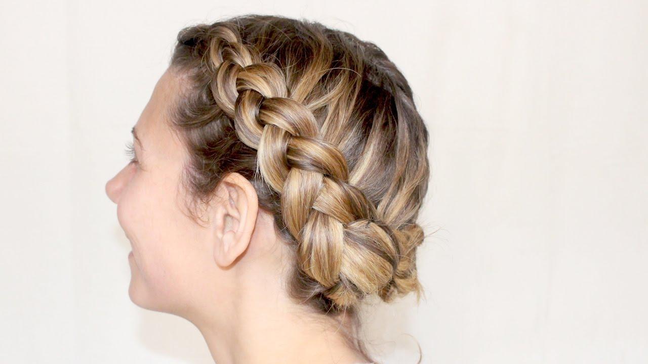 coiffure : couronne de tresses collées inversées ✨ marion blush