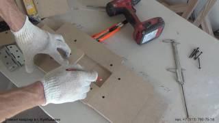 Самодельный шаблон для врезки дверных петель ручным фрезером. Изготовление. Фрезер RYOBI RRT1600-K