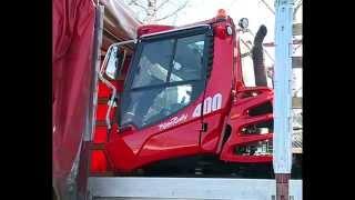 В Дёмино прибыла новая машина прокладки лыжных трасс