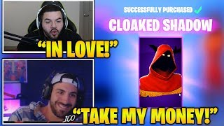 STREAMERS Reacts TO *NEW* EPIC 'Cloaked Shadow' Skin! Fortnite Funny And Best Moments