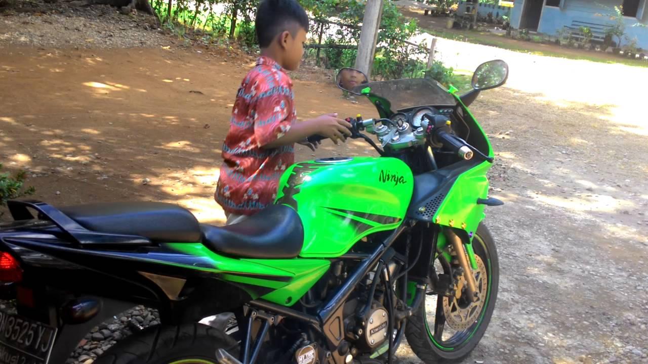 Foto Anak Kecil Naik Motor Ninja Serba Ottomotif