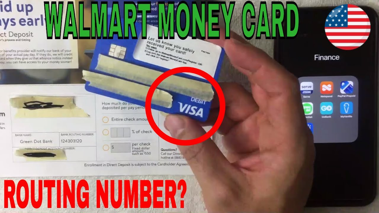 What Is Walmart Prepaid Money Card Routing Number Youtube