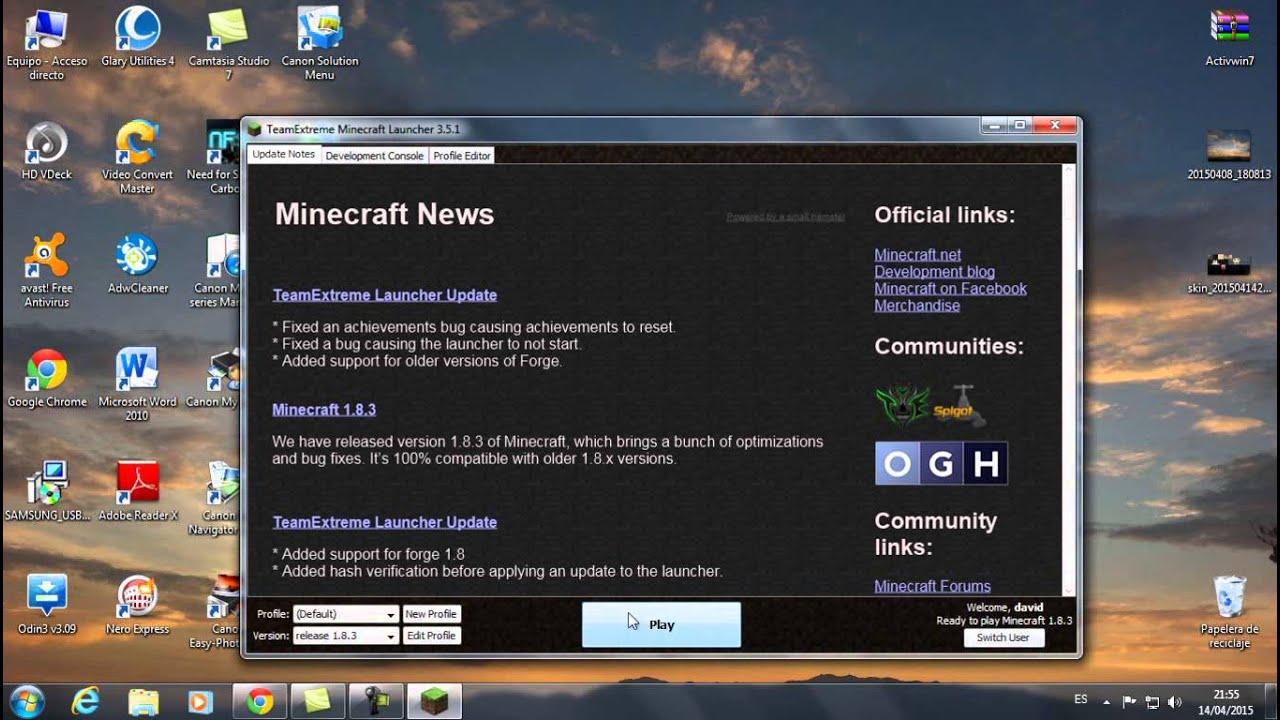 descargar el minecraft launcher 3.5.1 - YouTube