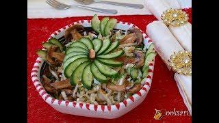 Салат с пекинской капустой, сырыми шампиньонами и фисташками Диетические блюда