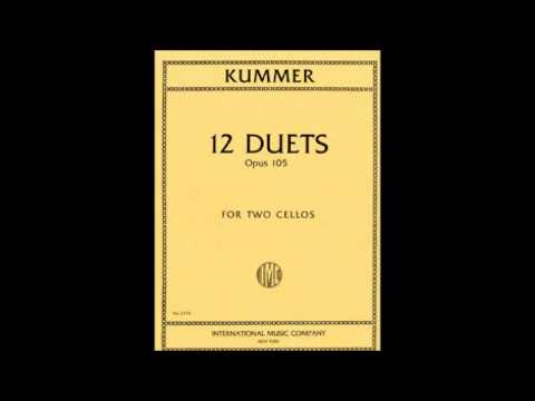 KUMMER 12 Duets op.105 No.4 Allegro energico をチェロで多重録音してみた