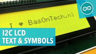#11 Text and custom symbols on an I2C LCD display