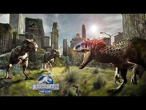 Битвы самых сильных динозавров Мира юрского периода Jurassic World The Game