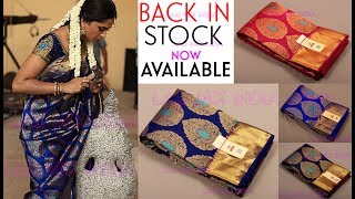 #1000 New Ready stock Bridal Kanchipuram silk saree at best price