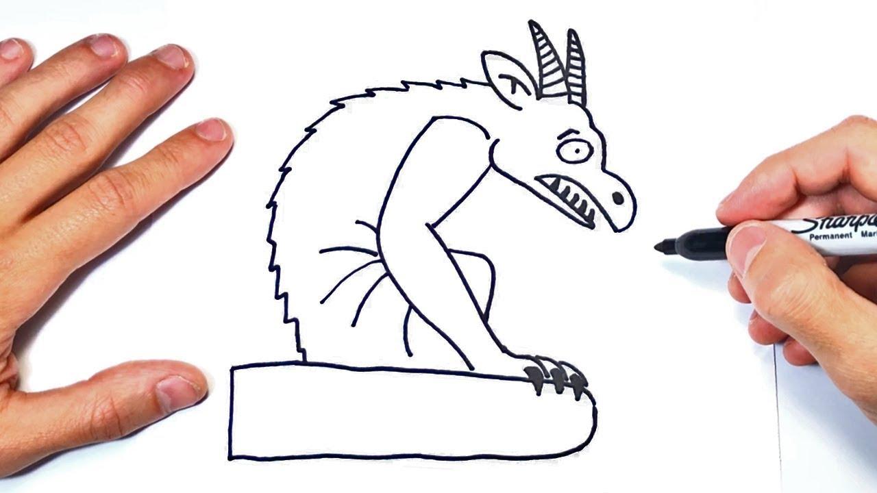 Cómo Dibujar Una Gargola Paso A Paso Dibujo De Gargola
