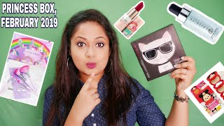 Princess Box February 2019|DISNEY |Cover FX| Lime Crime |Colour Pop |Unboxing and Review