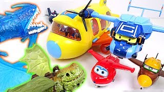 super wings and robocar poli carrie s pororo airplane rescue operation dudupoptoy