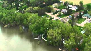 Aerial Missouri River West Bank May 29, 2011