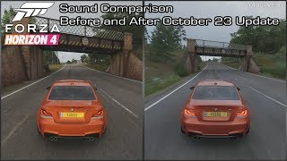 Forza Horizon 4 - BMW 1M Coupe Sound Comparison - Before and After October 23 Update