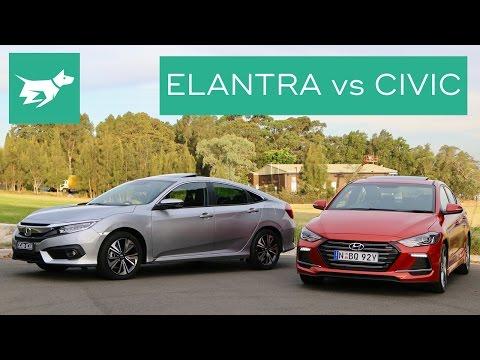 2017 Hyundai Elantra Sport vs 2017 Honda Civic Turbo Comparison Review