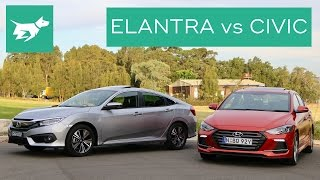 2017 Hyundai Elantra Sport vs 2017 Honda Civic Turbo Comparison Review