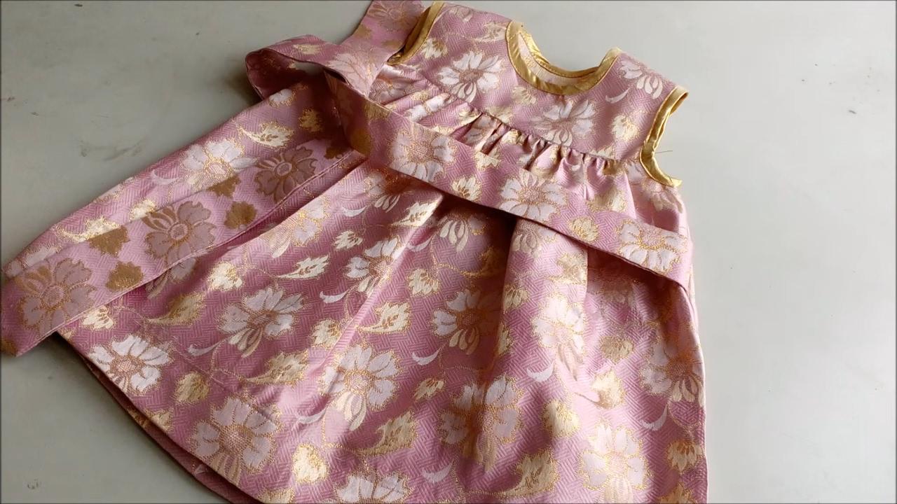 Make A Cute Baby Frock Yoke Design Cut Amp Sew Gathered