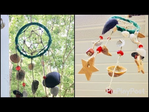 Seashell wind chime DIY   Decorate your garden and patio using this handmade windchime