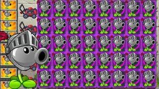 Plants vs Zombies 2 Mod: Peashooter Max Level Power-Up Vs Gargantuar Attack!