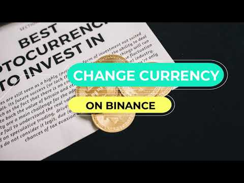 Change default currency and language on Binance