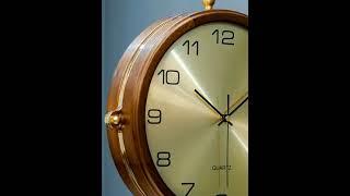 엔틱 유럽 양면 벽걸이 시계 모던 특이한 무소음 인테리…