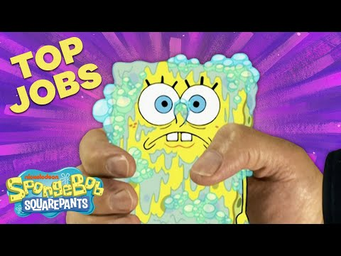 SpongeBob's Top 20 Jobs! 😁 #TBT