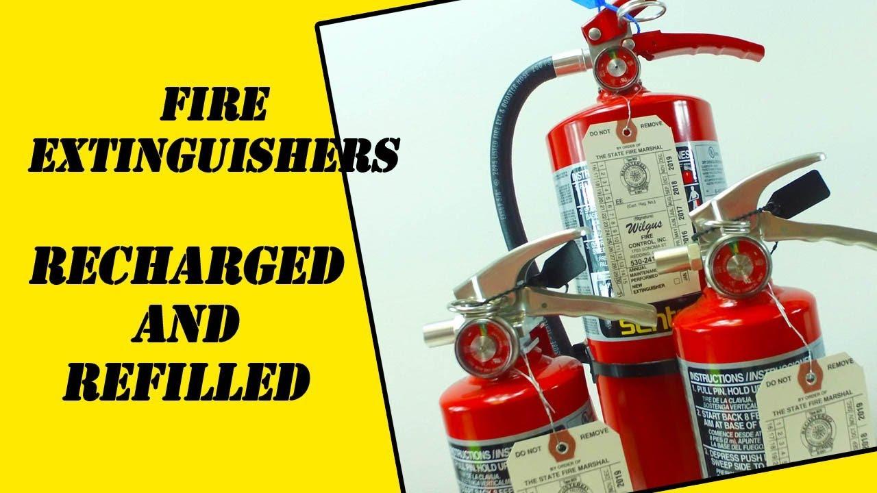 Fire Extinguisher Recharging Chico CA - YouTube