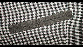 Обработка прорезного кармана в рамку