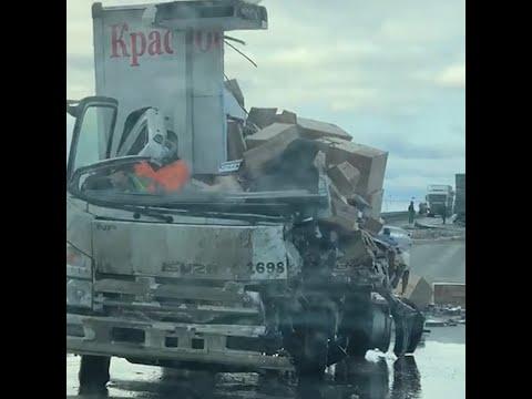 На границе со Свердловской области разорвало грузовик «Красное & Белое»   E1.RU