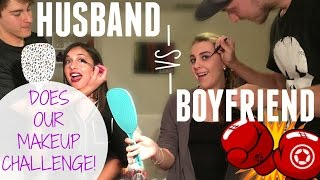 HILARIOUS HUSBAND VS BOYFRIEND DOES MY MAKEUP CHALLENGE! | Nikki Stixx
