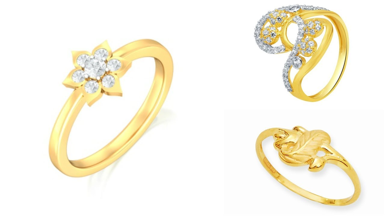 Golden Rings Designs with Diamond Stone for Ladies || Diamond ...