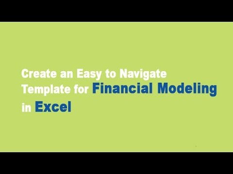 Financial Modeling In Excel Template Youtube