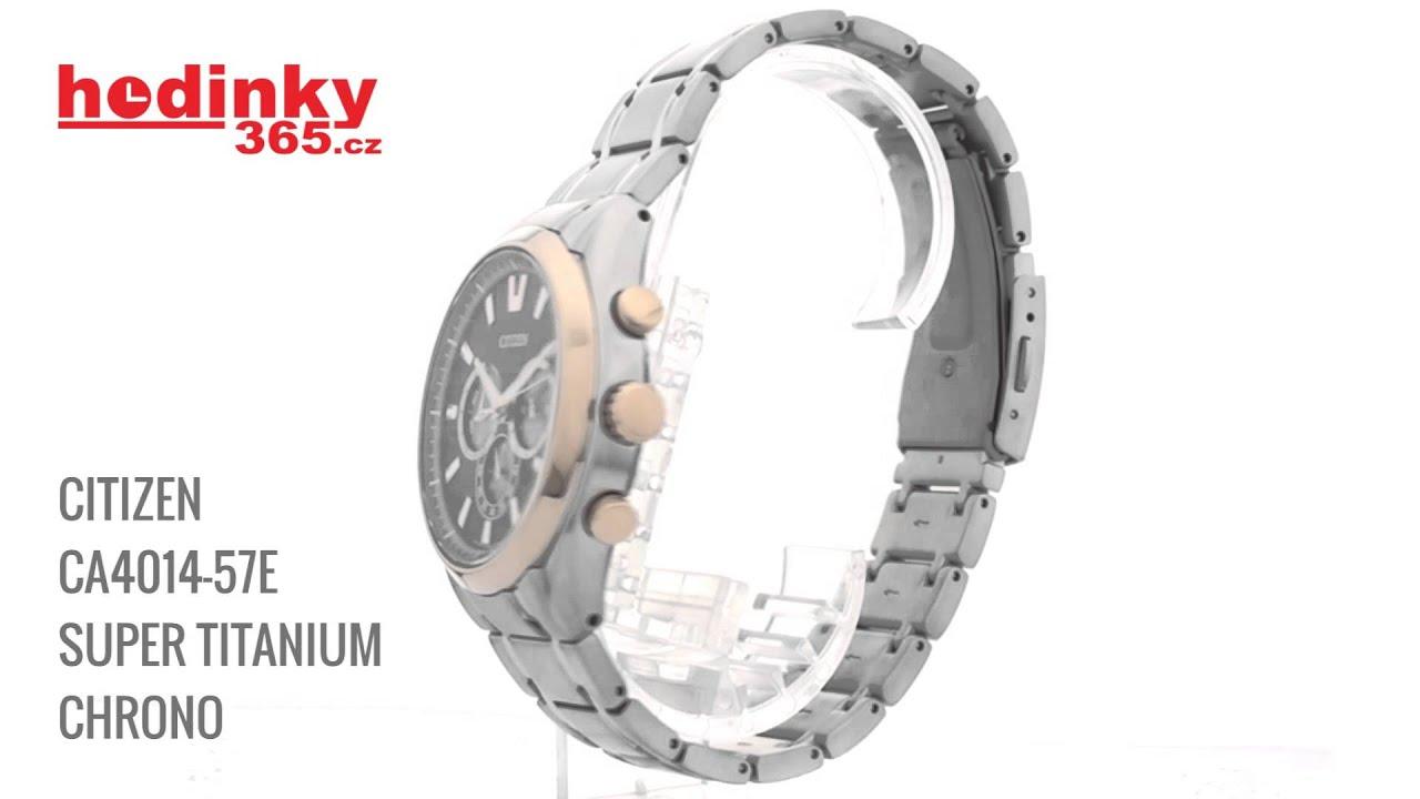 Citizen CA4014-57E Super Titanium Chrono - YouTube 7b95260275