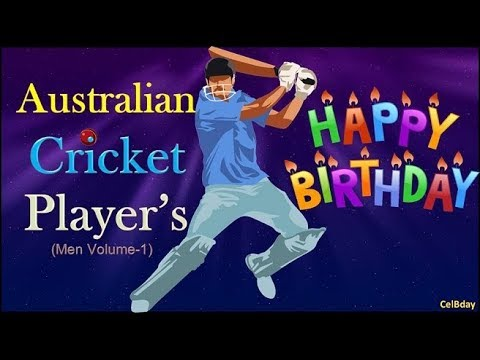 Birthday's Of Australian Cricket Players | CelBdays