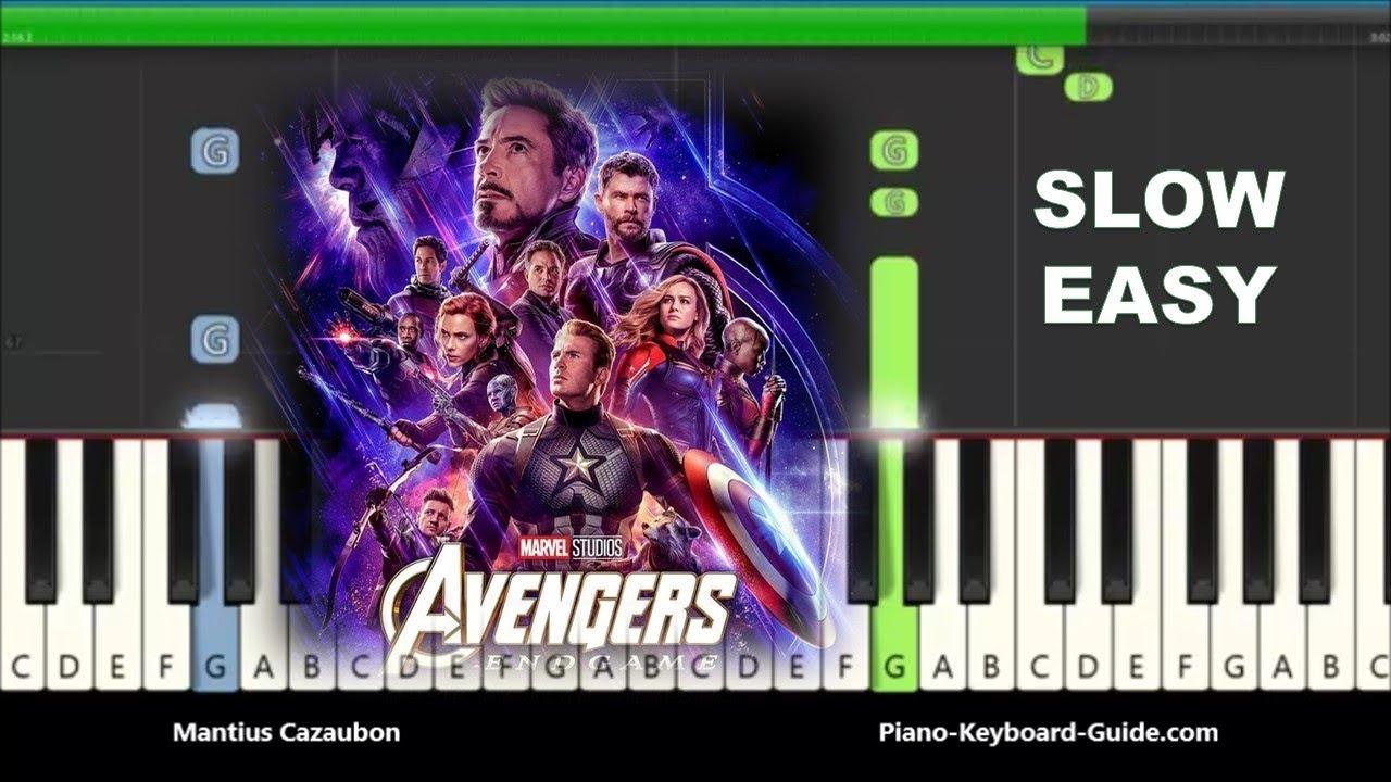 Avengers: Endgame - Portals Slow Easy Piano Tutorial