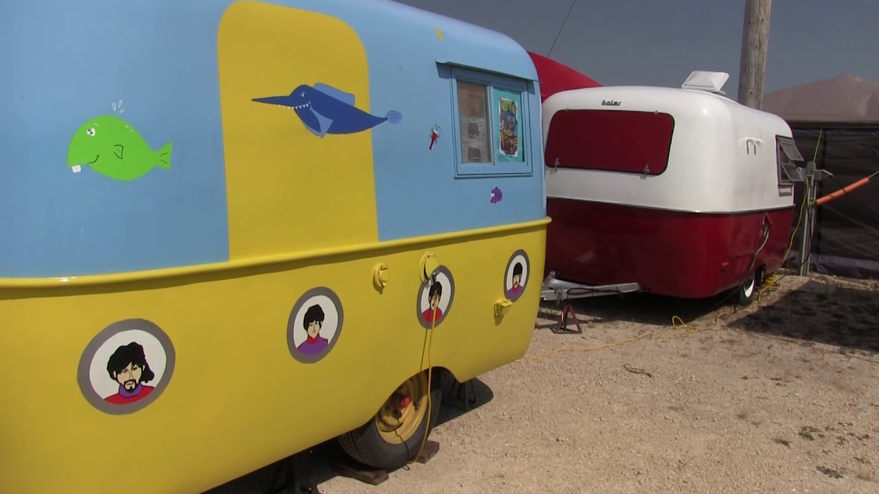 Colourful trailers gather for the Boler's 50th anniversary