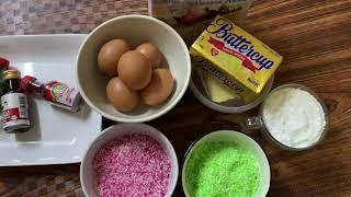 Kek Hujan Panas / Kek Kelapa / coconut cake