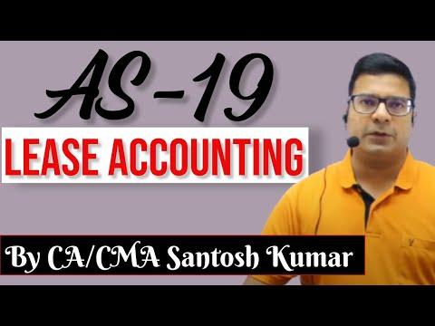 AS 19  Lease accounting by Santosh kumar (CA/CMA)