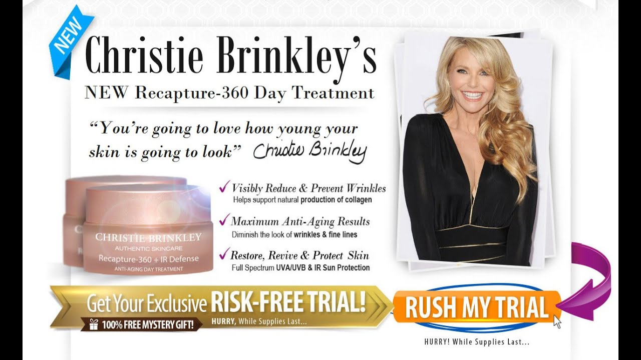 Image result for Christie Brinkley Skincare - Free Trial