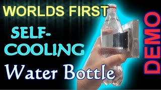 Worlds First SELF-COOLING water bottle! -demo