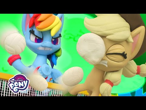 My Little Pony Stop Motion | Volleyball Game Between Rainbow Dash and Applejack | Stop Motion Ep. 18