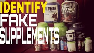 how to identify fake bodybuilding supplements