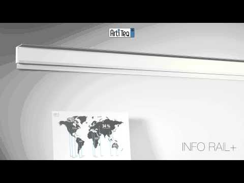 Upphängningsskenan Info Rail + från Tylöprint