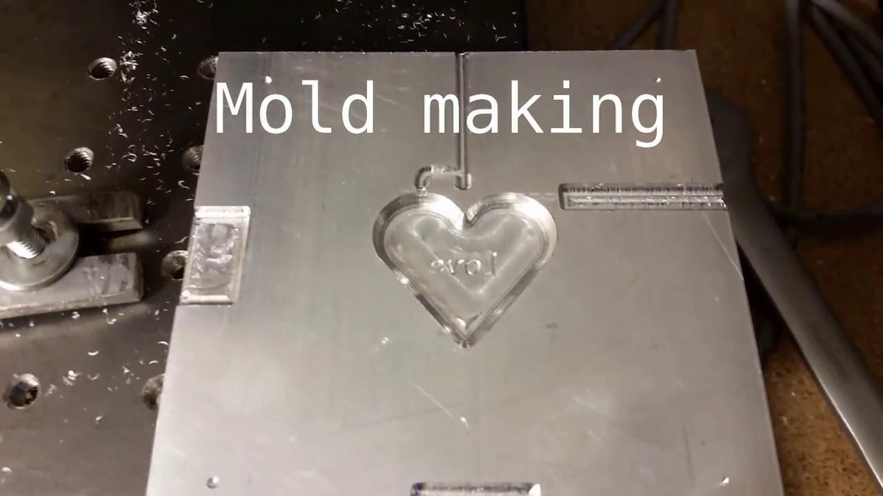 Diy Milling Aluminium Plastic Injection Mold Youtube