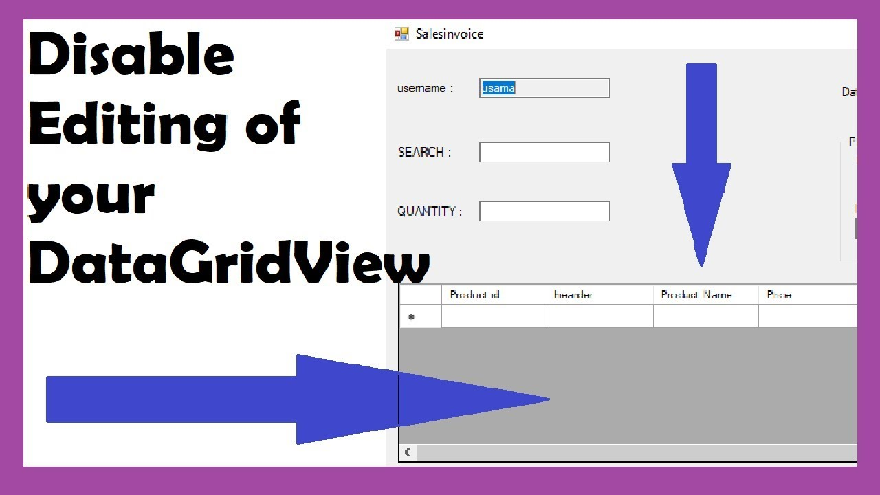 HOW TO DISABLE EDITING OF DATAGRIDVIEW IN C#