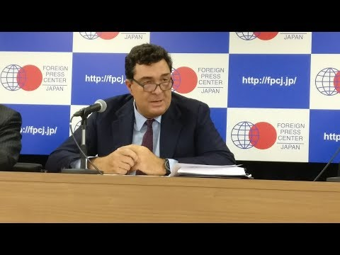 Alexis Papahelas at the Greek Chamber of Commerce in Japan