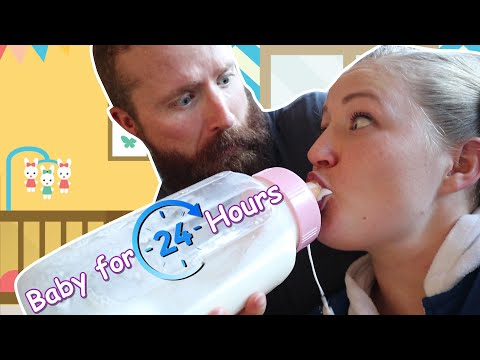 Acting Like A Baby For 24 Hours! Becca And Ryan Show!