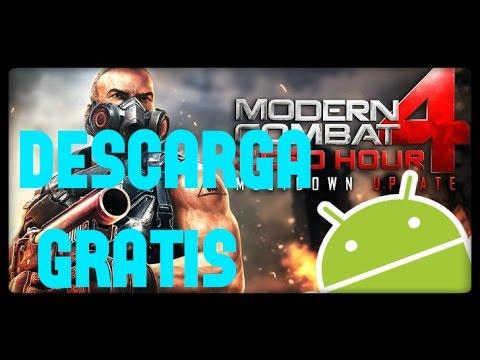 como descargar modern combat 4 gratis | para android | mc4 | juegos del 2016