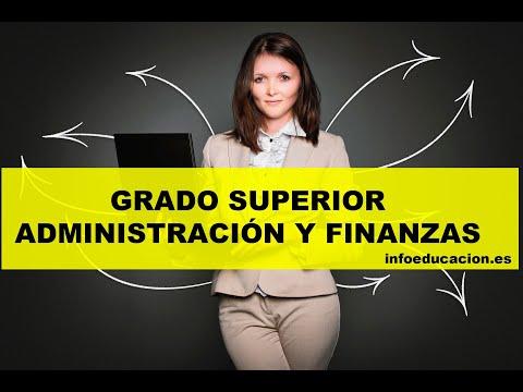 ☝ FP Grado Superior ADMINISTRACIÓN Y FINANZAS【toda La Información】
